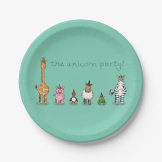 The Unicorn Party Paper Plates