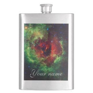 The Unicorns Rose Rosette Nebula Hip Flask