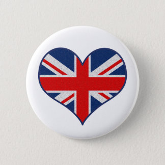 The Union Jack Flag for Britain, London, England 2 Inch Round Button