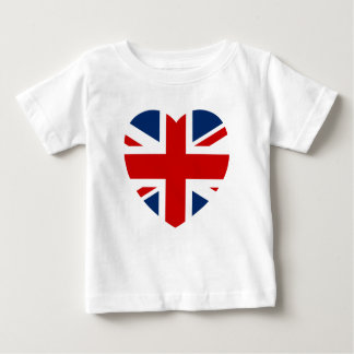 The Union Jack Flag Heart shape Baby T-Shirt