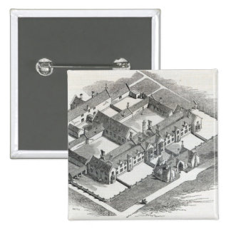 The Union Workhouse to be erected at 2 Inch Square Button