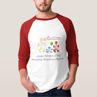 The Unique World of Autism Men's Raglan Shirt