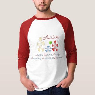 The Unique World of Autism Men's Raglan Shirt