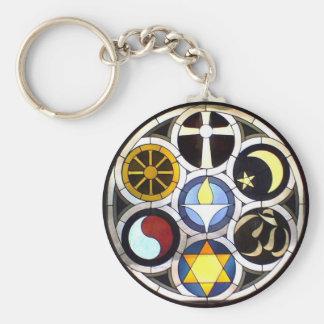 The Unitarian Universalist Church Rockford, IL Basic Round Button Keychain