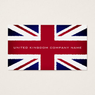 The United Kingdom Flag, Torn Effect, British Business Card