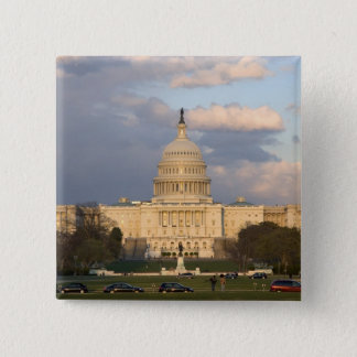 The United States Capitol Building in 2 Inch Square Button