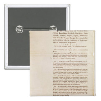 The United States Constitution, 1787 Pins