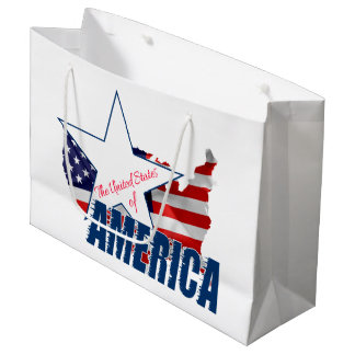 The United States Of America 4th of July Large Gift Bag
