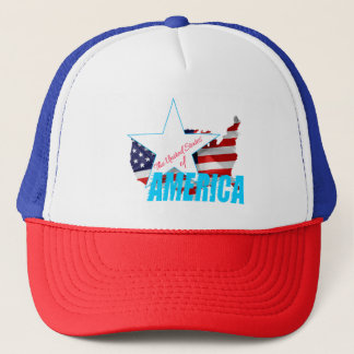 The United States Of America 4th of July Trucker Hat