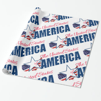 The United States Of America 4th of July Wrapping Paper