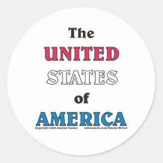 the United States of America Classic Round Sticker