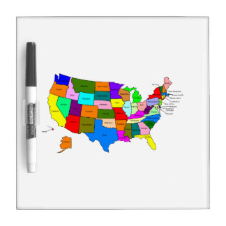 The United States of America Dry Erase Board