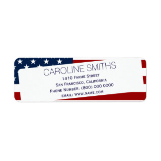The United States of America Return Address Label