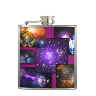 The Universe Hip Flask