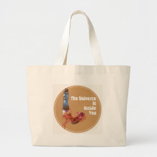 The Universe is Inside You Series Large Tote Bag