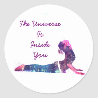 The Universe is Inside You Sticker