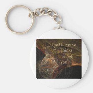 The Universe Thinks Through You Basic Round Button Keychain