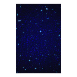 The Universe with Blue Stars Custom Stationery