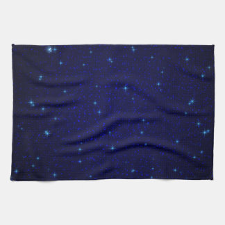 The Universe with Blue Stars Hand Towels