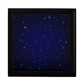The Universe with Blue Stars Jewelry Box
