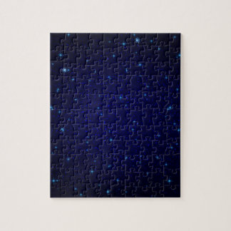 The Universe with Blue Stars Jigsaw Puzzle