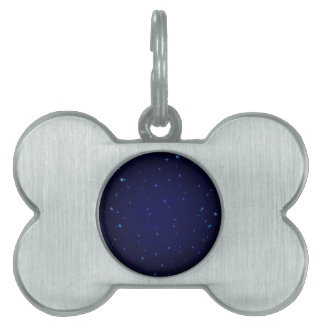 The Universe with Blue Stars Pet Name Tag