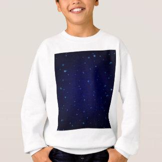 The Universe with Blue Stars Sweatshirt