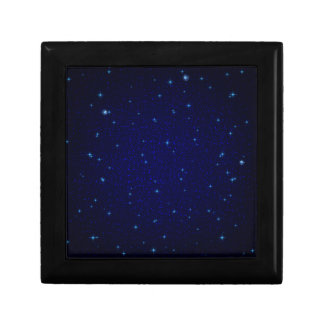The Universe with Blue Stars Trinket Boxes