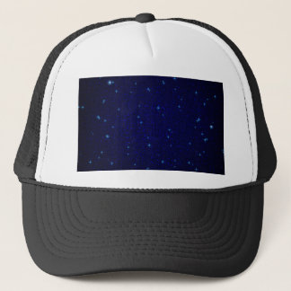 The Universe with Blue Stars Trucker Hat