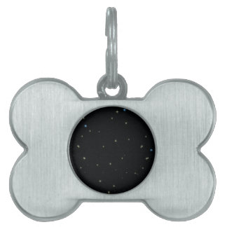 The Universe with Gold and Blue Stars Pet Tag