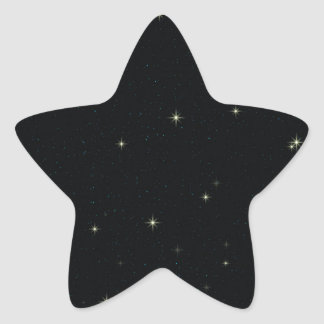 The Universe with Gold and Blue Stars Star Sticker