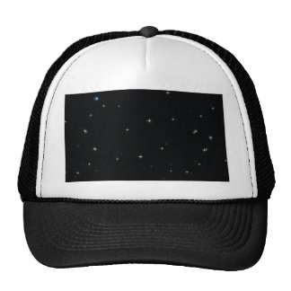 The Universe with Gold and Blue Stars Trucker Hat