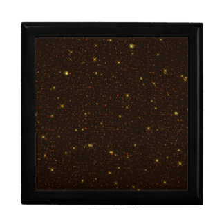 The Universe with Gold and Brown Stars Keepsake Box