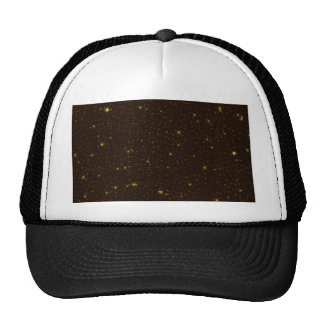 The Universe with Gold and Brown Stars Trucker Hat