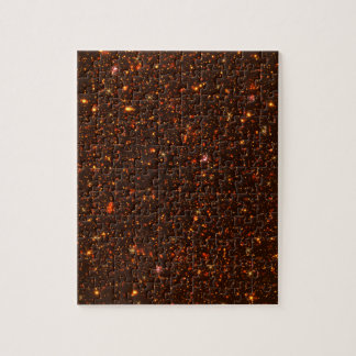 The Universe with Gold and Red Stars Puzzle