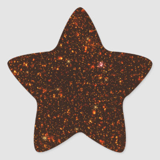 The Universe with Gold and Red Stars Star Sticker