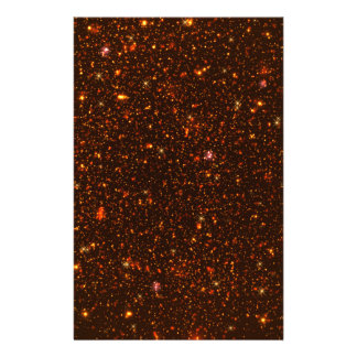 The Universe with Gold and Red Stars Stationery