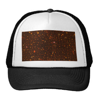 The Universe with Gold and Red Stars Trucker Hat