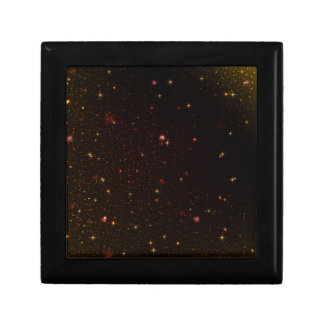 The Universe with Gold Stars Jewelry Box