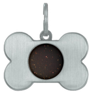 The Universe with Gold Stars Pet ID Tags
