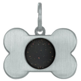 The Universe with Multicolor Stars Pet ID Tag