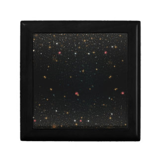 The Universe with Multicolor Stars Trinket Boxes