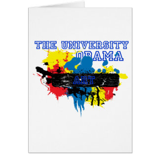 The University of Obama Art Department Greeting Card