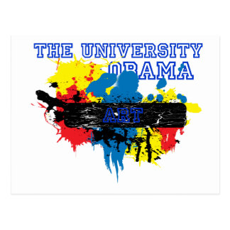 The University of Obama Art Department Postcard
