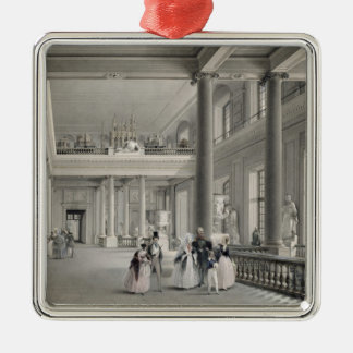 The Upper Entrance hall of the Fine Arts Academy Silver-Colored Square Ornament