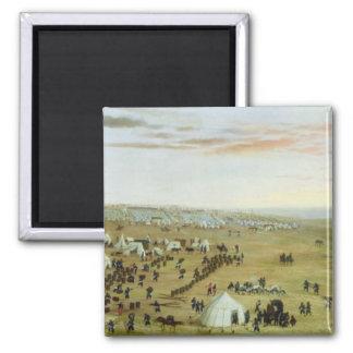 The Uruguaiana Camp, Rio Grande, Brazil, 1865 (oil Fridge Magnets