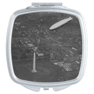 The US Airship 'USS Los Angeles' ZR3 flying over Compact Mirror