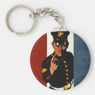 The US Marines Want You Basic Round Button Keychain