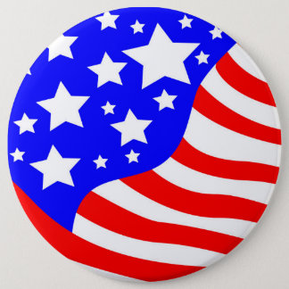 The USA 6 Inch Round Button