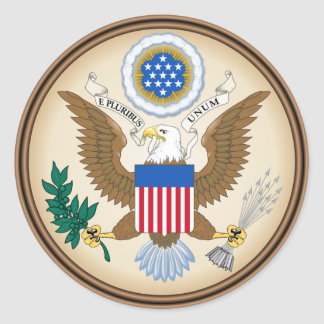 The USA Classic Round Sticker